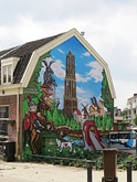 A decorated house in Utrecht, Netherlands