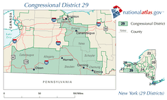 New York District 29 109th US Congress.png