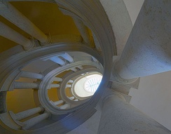 The famous helicoidal staircase by Borromini.