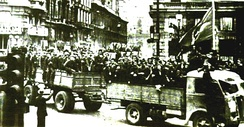 Anti-Fascist Partisans in the streets of Bologna after the general insurrection of April 1945