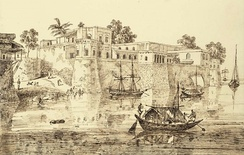 French factory (trading post) at Patna on the Ganges