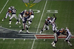 Broncos on defense at New England