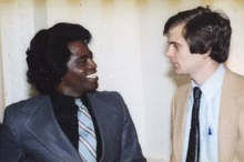 Atwater with James Brown in 1981