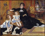Pierre-Auguste Renoir, Mme. Charpentier and Her Children, 1878