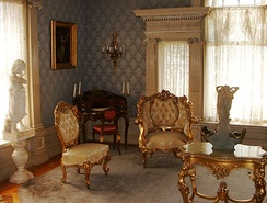 Parlor room at the Roberson Mansion