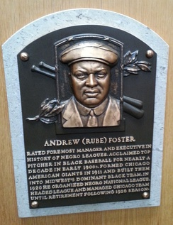 Foster's plaque at the National Baseball Hall of Fame and Museum
