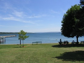 Skaneateles Lake is one of the Finger Lakes in Onondaga County.