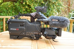 Sony Betacam SP BVW-D600P Camcorder with C6 Paglight and Rycote Softie