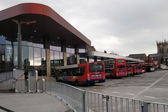 The redeveloped Wigan bus station in 2018