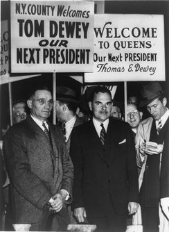 Dewey during a campaign tour in New York
