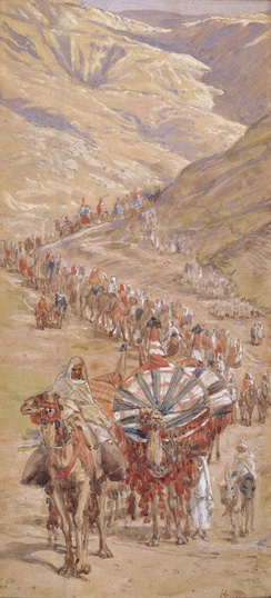 The Caravan of Abraham (watercolor circa 1896–1902 by James Tissot)