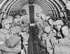 American paratroopers of the 504th PIR bound for Sicily, July 1943.