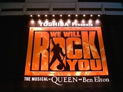 We Will Rock You musical in Tokyo, Japan, November 2006