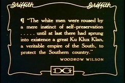 """The white men were roused by a mere instinct of self-preservation ... until at last there had sprung into existence a great Ku Klux Klan, a veritable empire of the South, to protect the Southern country."""