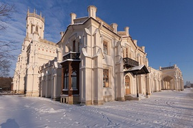 New Peterhof rail station building, 1857, Saint Petersburg, Russia