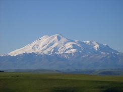 Mount Elbrus, the highest point of the Caucasus, Russia and Europe