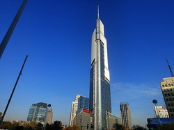 Zifeng Tower ranks among the tallest buildings in the world, opened for commercial operations in 2010.[134]