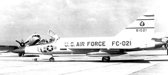 47th Fighter-Interceptor Squadron Convair F-102A at Niagara Falls Municipal Airport[note 3]