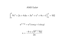 Mathematical text typeset using TeX and the AMS Euler font.