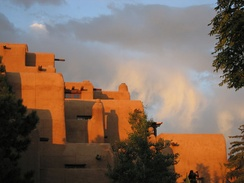 The Inn at Loretto, a Pueblo Revival style building near the Plaza in Santa Fe, 2005.