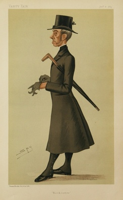 Caricature by Leslie Ward, published in 1885 in Vanity Fair