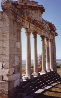 Ancient temple in Apollonia.
