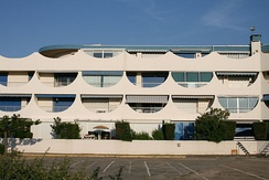 Seventies architecture in Port-Camargue, France