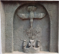 The Holy Ghost depicted as a dove on a relief in Onitsha