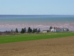 The Minas Basin in early May.
