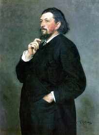 Portrait of M.P. Belyayev, founder of the Russian Symphony Concerts, by Ilya Repin