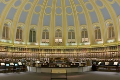 The Reading Room at the British Museum Library, where the Jackal reads Le Figaro