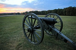 A 3-inch Parrott rifle from the Battle of Chancellorsville