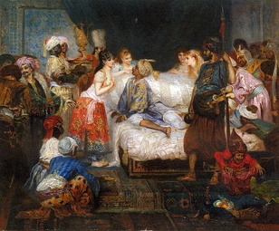Scene from the Harem by Fernand Cormon, c. 1877
