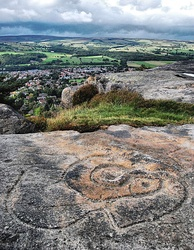 Bronze Age markings at Hangingstone Quarry, above Ilkley