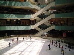 Ice rink at the Dallas Galleria, 2006