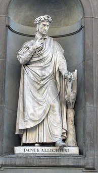 Statue of Dante at the Uffizi, Florence