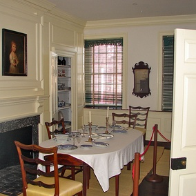 Restored second floor dining room