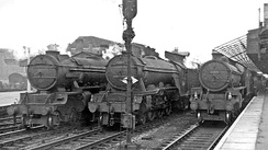 At the station in 1953