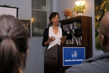 Sikivu Hutchinson speaking at the Center for Inquiry, Washington, DC. in 2010.