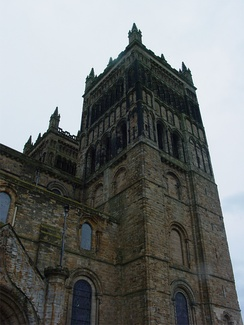 The towers at the end of the nave