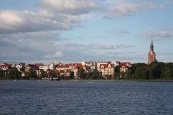 Ełk is the largest city of Masuria