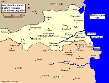 War of the Pyrenees, Eastern Pyrenees