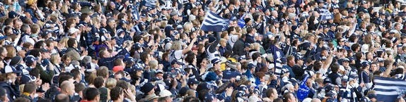 Geelong's supporters came out in force in the 2009 Grand Final against St Kilda