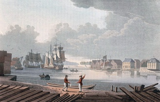 Port of Christiania c. 1800by John William Edy