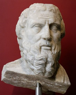 "Herodotus (c. 484 BC—c. 425 BC), often considered the ""father of history"""