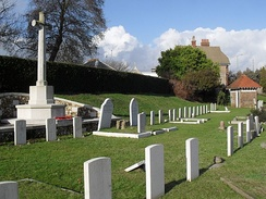 There is a section for Commonwealth war graves.