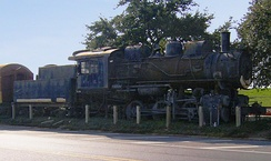 IC 333 preserved at Yazoo and Mississippi Valley Railroad Company Depot