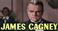 face shot of Cagney with short hair parted slightly off center