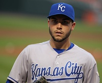 Eric Hosmer scored the tying run in the top of the ninth inning.