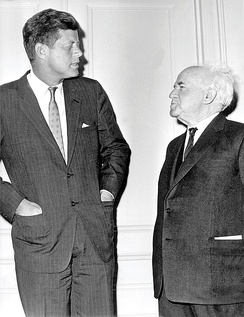 Kennedy and Ben-Gurion in 1961.